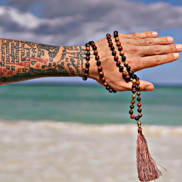 PICASSO JASPER STONE | Handmade Mala Bead Necklace